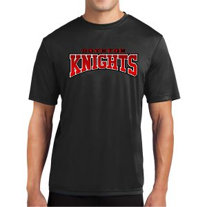 Boynton Knights Short Sleeve Performance Shirt - Black  Bk-PTee