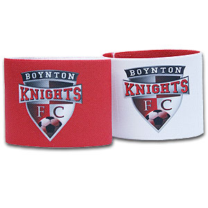 Shin Guard Stay (Reversible) - Boynton Knights Red/White GRDLKBK