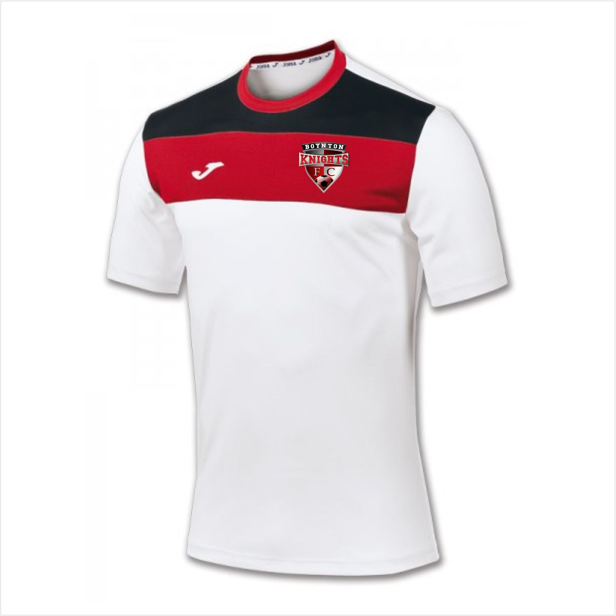 Boynton Knights Joma Crew Jersey - White/Red/Black StandWH15