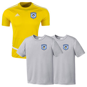 Martin United Soccer Club - New Youth Home Jersey + 2 Youth Training Jerseys MUSC-YTKT