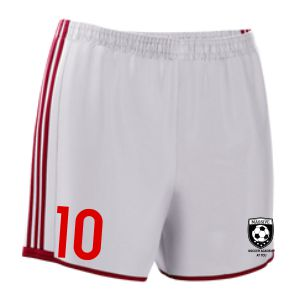 Massive adidas Women's Condivo Short - White/Red MassAdiWomenShoRed