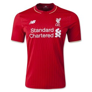 New Balance Liverpool Home Jersey 2015-2016 WSTM542