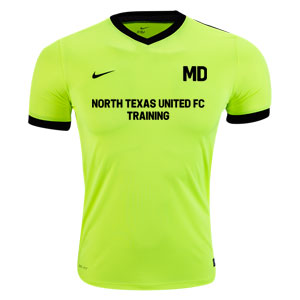 North Texas United FC Nike Striker IV Training Jersey - Neon/Black 725898-702-TUFC