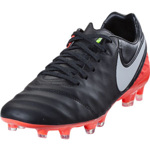 Nike Tiempo Legacy II FG - Black/Orange 819218-018