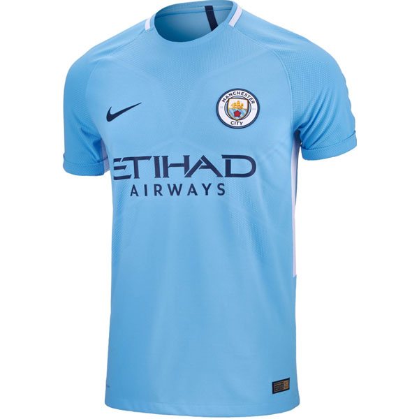 Nike Manchester City Authentic Home Jersey 2017-2018 847197-489