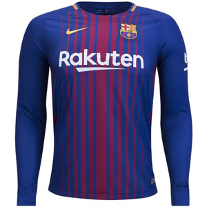 Nike Barcelona Home Long Sleeve Jersey 2017-2018 847252-456