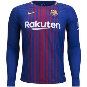 051b2c88c Nike Barcelona Home Long Sleeve Jersey 2017-2018 847252-456