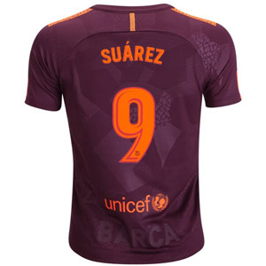 Nike Barcelona Suarez Youth Third Jersey 2017-2018 847385-683Suarez