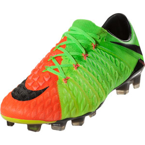 Nike Hypervenom Phantom III FG - Electric Green/Black/Hyper Orange 852567-308