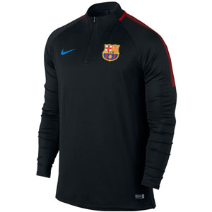 Nike Barcelona FC Squad Drill Top - Black/University Red 854191-011