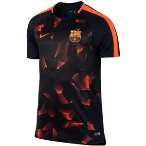 Nike Barcelona FC Squad Top 2017 - Black/Hyper Crimson 854231-014