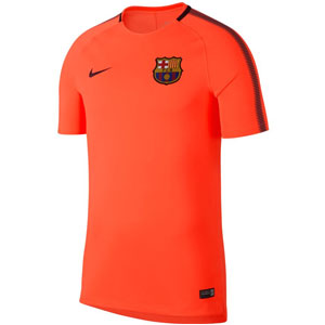Nike Barcelona Squad Football Top 2017 - Hyper Crimson/Night Maroon 854253-813