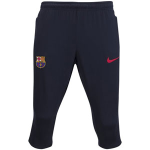 Nike FC Barcelona 3/4 Training Pants 2017-2018 - Black/Solar/University Red 854257-010