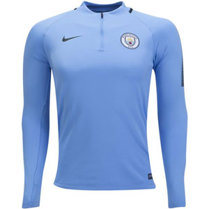 Nike Manchester City FC Long Sleeve Squad Drill Top - Field Blue 854727-492