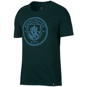 Nike Manchester City Crest Tee - Outdoor Green 857357-332