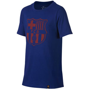 Nike Barcelona Youth Tee Shirt - Deep Royal Blue 859192-410