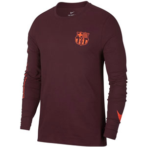 Nike Barcelona Long Sleeve Squad Tee - Night Maroon 882050-681