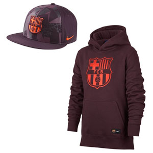 Nike Barcelona Youth Hoodie and True Cap Gift Set 886662-YOUTHJCKTHAT