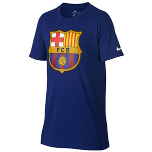 Nike Barcelona Youth Crest Tee - Deep Royal Blue 898629-455