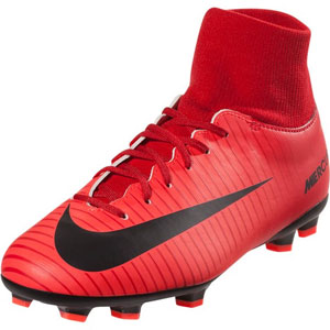 Nike Junior Mercurial Victory VI DF FG - University Red/Black 903600-616