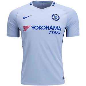 Nike Chelsea Away Jersey 2017-2018 - Pure Platinum/Rush Blue 905512-044
