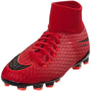 Nike HyperVenom Phelon III DF JR FG - University Red/Black 917772-616