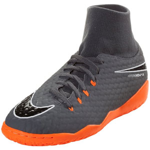 Nike Junior Hypervenom PhantomX III Academy DF IC - Dark Grey/Total Orange Indoor AH7291-081