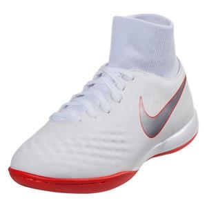 Nike Junior ObraX II Academy DF IC -  White/Crimson IC AH7315-107