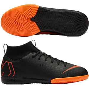 Nike Junior SuperflyX Academy VI DF IC - Black/Total Orange Indoor AH7343-081