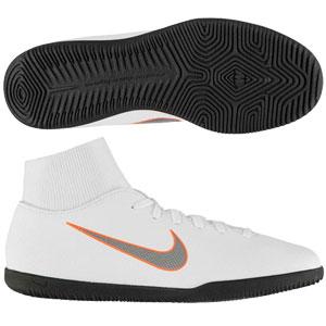 Nike Mercurial SuperflyX VI Club IC - White/Total Orange Indoor AH7371-107