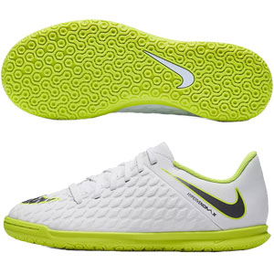 Nike Junior Hypervenom PhantomX 3 Club IC - White/Volt Indoor AJ3789-107