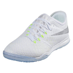 1f3b57e37df Nike Zoom Hypervenom PhantomX III Pro IC - White Metallic Cool Grey Indoor  AJ3804-