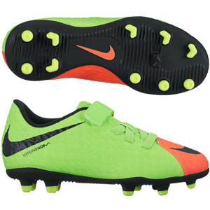 Nike Junior Hypervenom Phade III (V) FG - Electric Green/Black/Hyper Orange 852589-308