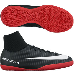 Nike Junior Mercurialx Victory VI DF IC - Black/University Red Indoor 903599-002