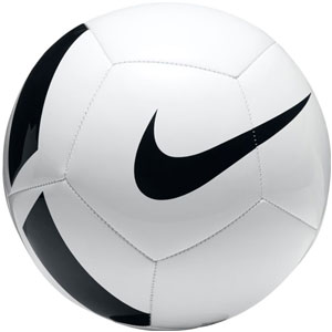 Nike Pitch Team Soccer Ball - White/Black SC3166-100