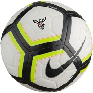 Nike North Texas United Team Strike Soccer Ball - White/Volt/Black SC3176-100-NTU