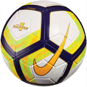 Nike Gold Cup Strike Soccer Ball - White/University Gold/Blue Cobalt SC3184-100