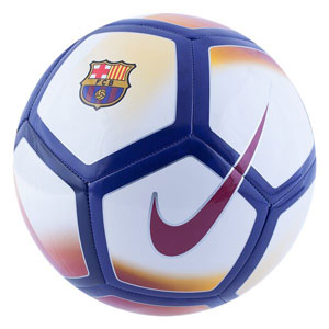 Nike Barcelona Pitch Ball - White/Noble Red/University Gold SC3480-100
