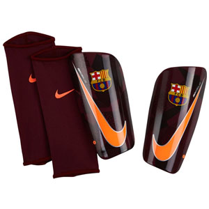 Nike FC Barcelona Mercurial Lite Shinguard - Night Maroon/Hyper Crimson - NOCSAE SP2112-608