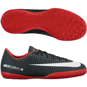 Nike Junior Mercurial Vapor XI IC - Black/University Red Indoor 831947-002