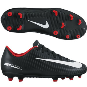Nike Junior Mercurial Vortex III FG - Black/Dark Grey 831952-002