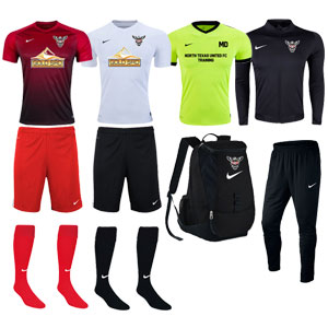 North Texas United FC Select Teams - Adult Required Kit TUFC-ADSLCKT