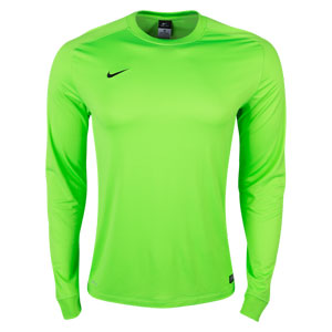 Nike Youth Long Sleeve Park Goalie II Jersey - Electric Green/Black 588441-303