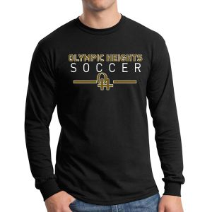 Olympic Heights Long Sleeve T-Shirt - Black G5400-OH