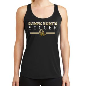 Olympic Heights Women's Racerback Tank - Black LST356-OH