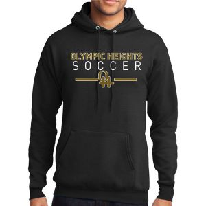 Olympic Heights Hooded Sweatshirt - Black PC78H-OH