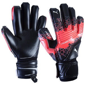 Puma evoPower Super 3 Goalkeeper Gloves - Fiery Coral/Black 041215-41