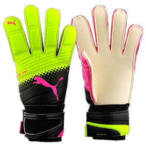Puma evoPower Grip 2.3 Tricks Goalkeeper Glove - Pink Glo/Safety Yellow/Black 041222-10