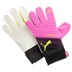 Puma evoPOWER Grip 4.3 Goalkeeper Glove - Pink Glo/Safety Yellow/Black 041227-10