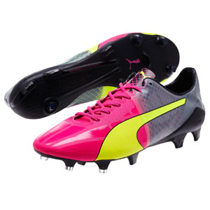 Puma EvoSpeed 1.5 Tricks FG - Pink Glo/Safety Yellow/Black 10359701